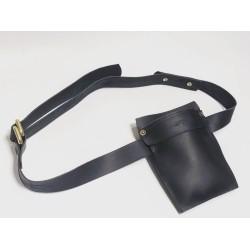 Heme accesorio de trabajo de cuero hecho a mano negro graso