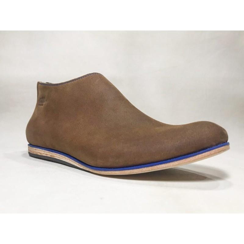 Barro zapatos de cuero hechos a mano ranger vino detalles azul