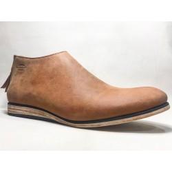 Barro zapatos de cuero hechos a mano ranger vino detalles negro