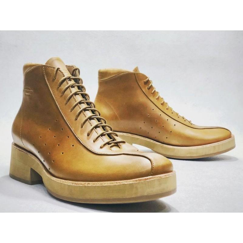 Patagonia zapatos hechos a mano de cuero ranger caramelo