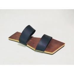 Inca sandalias de cuero hechas a mano ranger vino negro graso mate detalles beige