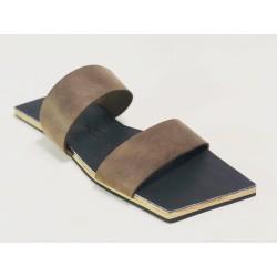 Inca sandalias de cuero hechas a mano cerato camel napa negro detalles beige