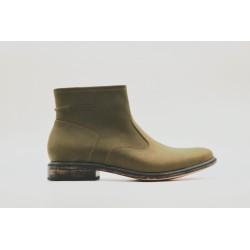 Mira Verde Vintage zapatos de cuero graso planta con acabados vintage negro hecho a mano