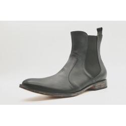 Hache Cuero napa negro versión vintage zapatos de cuero hecho a mano