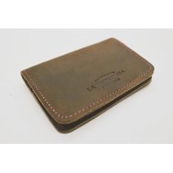 1656 Billetera Cuero graso verde billetera de cuero hecho a mano